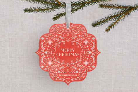 Christmas Morning Holiday Ornament Cards