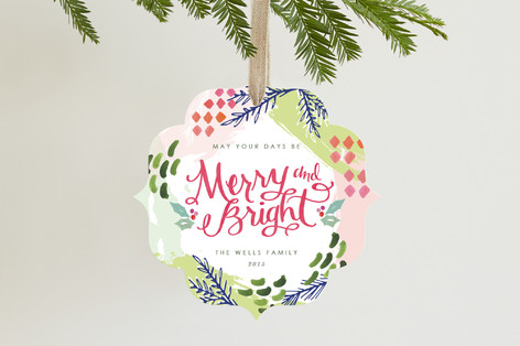 Extra Merry and Bright Holiday Ornament Cards