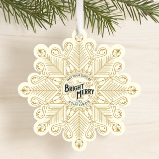 Deco Flake Holiday Ornament Cards