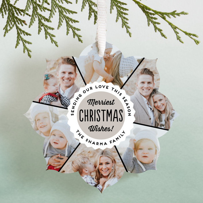 """""""Bottlecap"""" - Holiday Ornament Cards in Wintermint by 2birdstone."""