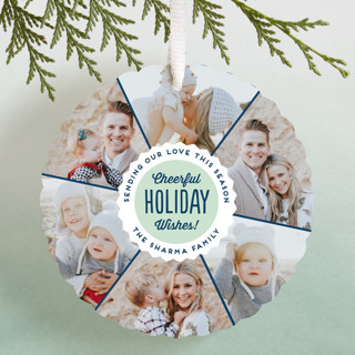 Bottlecap Holiday Ornament Cards