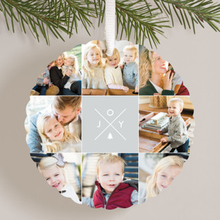 Modern Joy Holiday Ornament Cards