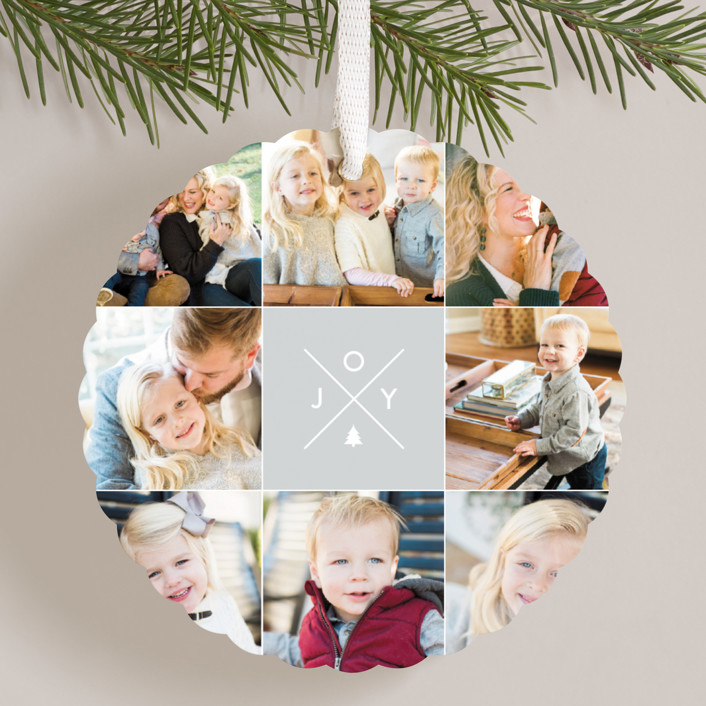 """Modern Joy"" - Holiday Ornament Cards in Stone by design market."