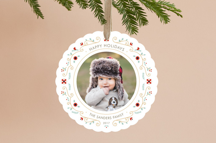 """""""Petite Wreath"""" - Holiday Ornament Cards in Snow by Lawren Ussery."""