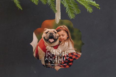 FaLaLaLaLa Holiday Ornament Cards