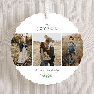 Be Joyful Holiday Ornament Cards