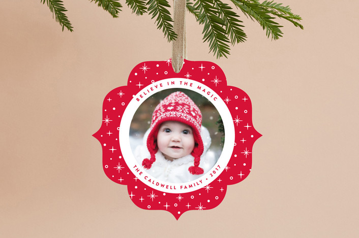 """Believe"" - Holiday Ornament Cards in Winterberry by Susan Asbill."