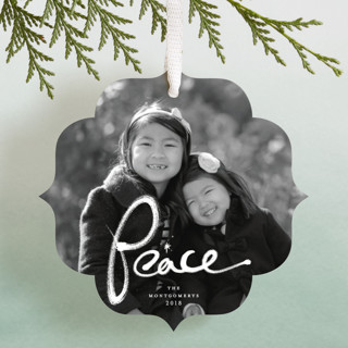 Brushed Peace Holiday Ornament Cards
