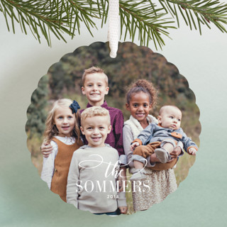 Festive Family Holiday Ornament Cards