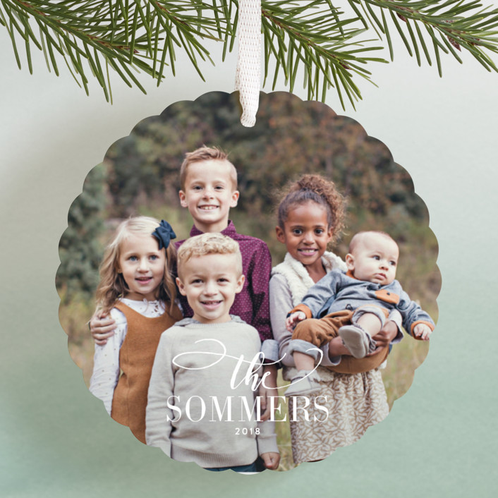 """Festive Family"" - Holiday Ornament Cards in Snow by Jessica Williams."