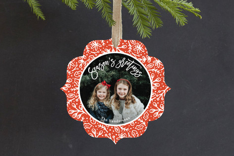 Fun Florals Holiday Ornament Cards