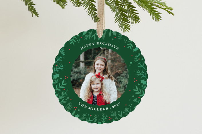"""""""Watercolor Berries"""" - Holiday Ornament Cards in Fir by Bethan."""