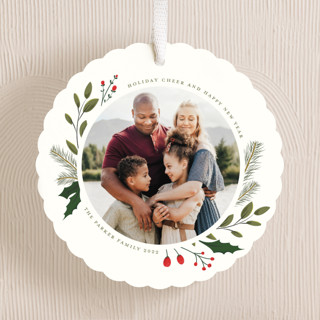 Christmas Sprigs Holiday Ornament Cards