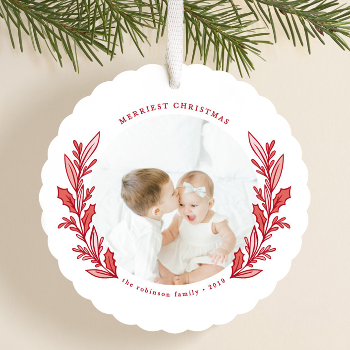 """""""Sweet Innocence"""" - Holiday Ornament Cards in Cherry by Mansi Verma."""