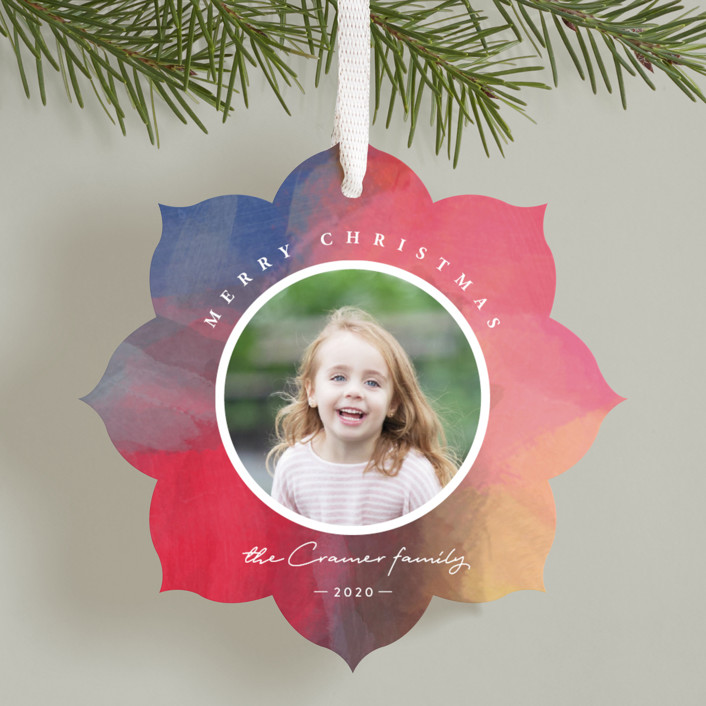 """Holiday Brushstrokes"" - Holiday Ornament Cards in Plum by Eric Clegg."