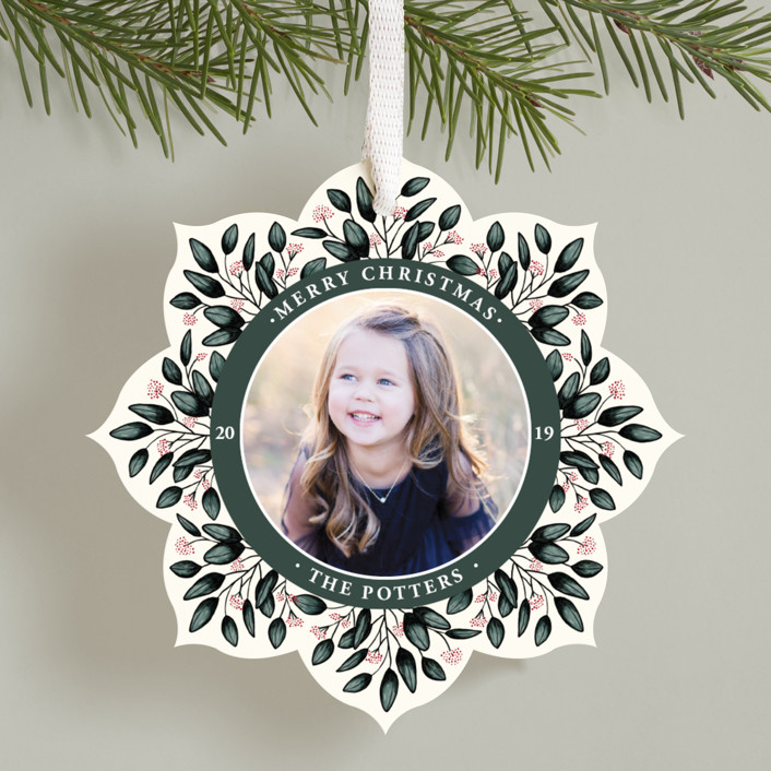 """""""Fresh Berries"""" - Holiday Ornament Cards in Ivory by Beth Schneider."""