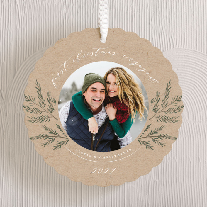 """""""Sweet Photo Ornament"""" - Holiday Ornament Cards in Kraft by Nicole Barreto."""