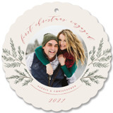 This is a brown holiday card ornament by Nicole Barreto called Sweet Photo Ornament with standard printing on smooth signature in ornament.