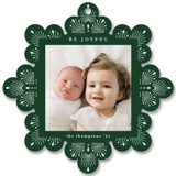 This is a green holiday card ornament by Ana de Sousa called Beautiful ornament with standard printing on smooth signature in ornament.