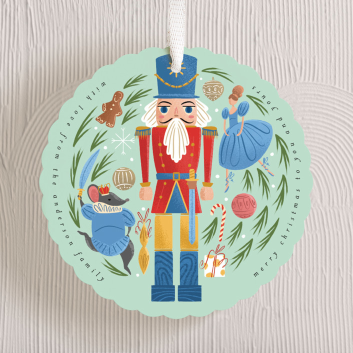 """""""Nutcracker Ornament"""" - Vintage Holiday Ornament Cards in Frost by Grae."""