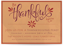 Be Thankful With Us