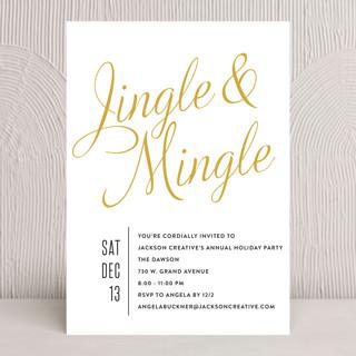 Jingle Mingle Holiday Party Invitations