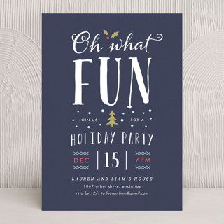 What Fun Holiday Party Invitations