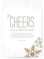 This is a beige holiday party invitation by Jody Wody called Silver and Gold printing on signature.