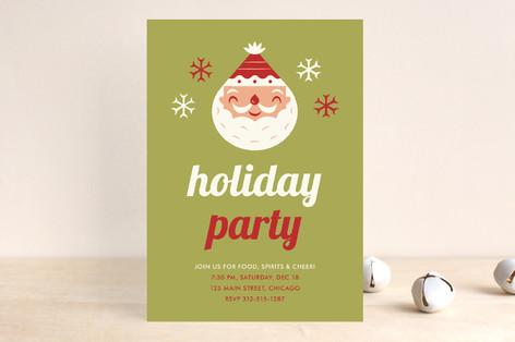 Happy Santa Holiday Party Invitations