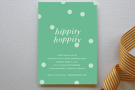 Hippity Hoppity Holiday Party Invitations