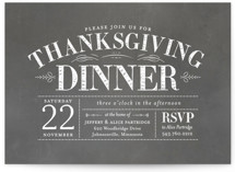 This is a grey holiday party invitation by Sarah Brown called Plymouth printing on signature.
