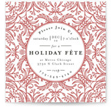 This is a pink holiday party invitation by Melanie Kosuge called DIA printing on signature.