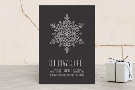 Snowflake Soiree Holiday Party Invitations