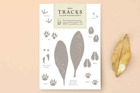 Make Tracks Holiday Party Invitations