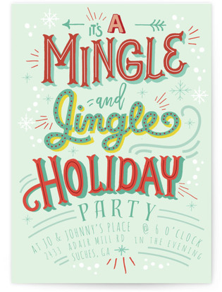 Mingle and Jingle Party Holiday Party Invitations