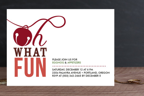 Oh What Fun Holiday Party Invitations By Frooted D   Minted