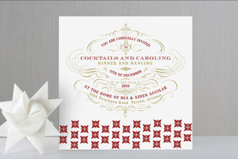 Champagne Holiday Party Invitations
