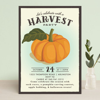 vintage pumpkin seeds Holiday Party Invitations