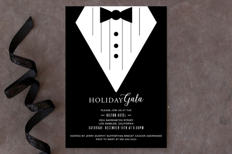 Black Tie Affair Holiday Party Invitations