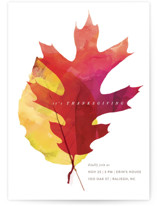 This is a red holiday party invitation by kelli hall called maple printing on signature in standard.