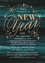 New Years at Midnight Holiday Party Invitations By Alethea and Ruth
