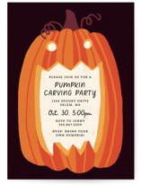 This is a black holiday party invitation by Rebecca Smith called Eat, Drink, and be Scary with standard printing on signature in standard.