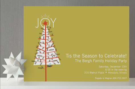 Home for the Holidays Holiday Party Invitations