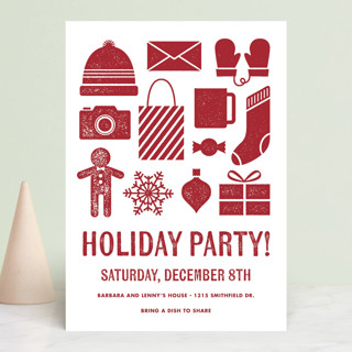 Winter Staples Holiday Party Invitations