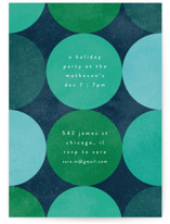 This is a blue holiday party invitation by Kelly Schmidt called Circles printing on signature.