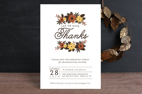 Thanksgiving Foliage Holiday Party Invitations