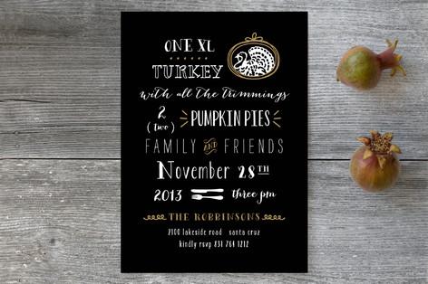 XL Turkey Holiday Party Invitations