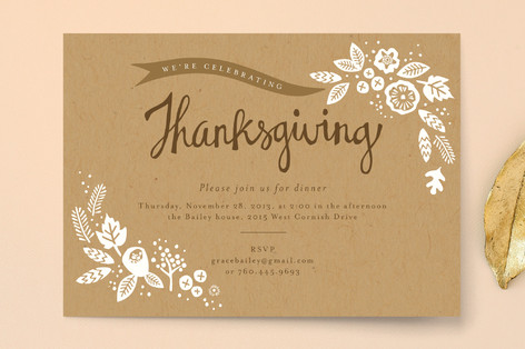 Rustic Harvest Holiday Party Invitations