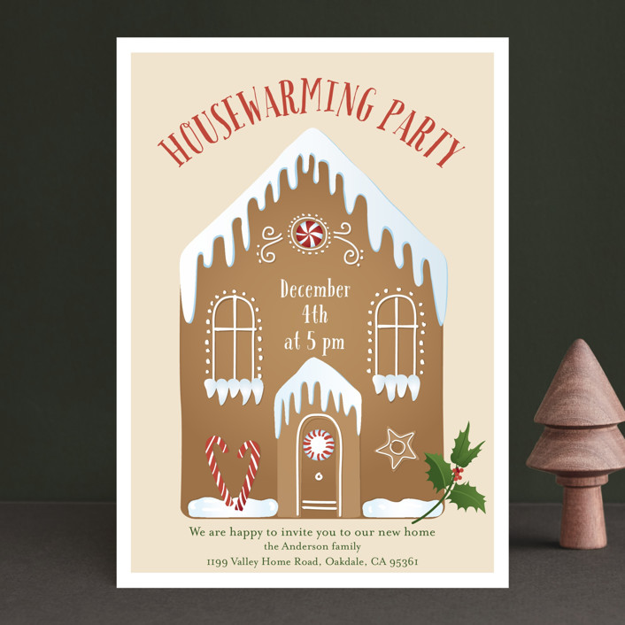 """""""Housewarming Party"""" - Holiday Party Invitations in Cinnamon by frau brandt."""