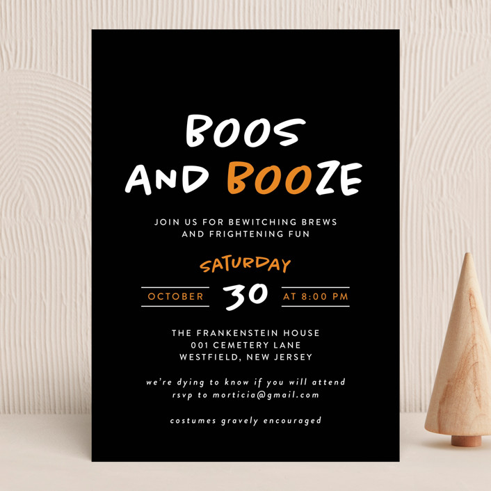 """""""Faboolous"""" - Holiday Party Invitations in Cauldron by Heather Schertzer."""
